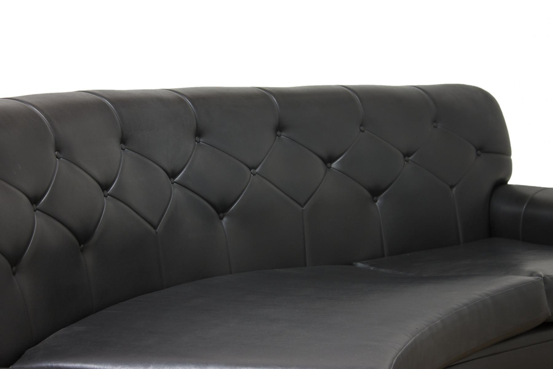 Mid Century Retro Black Vinyl Sofa From G Plan For Sale At Pamono Pertaining To Black Vinyl Sofas (Image 12 of 20)