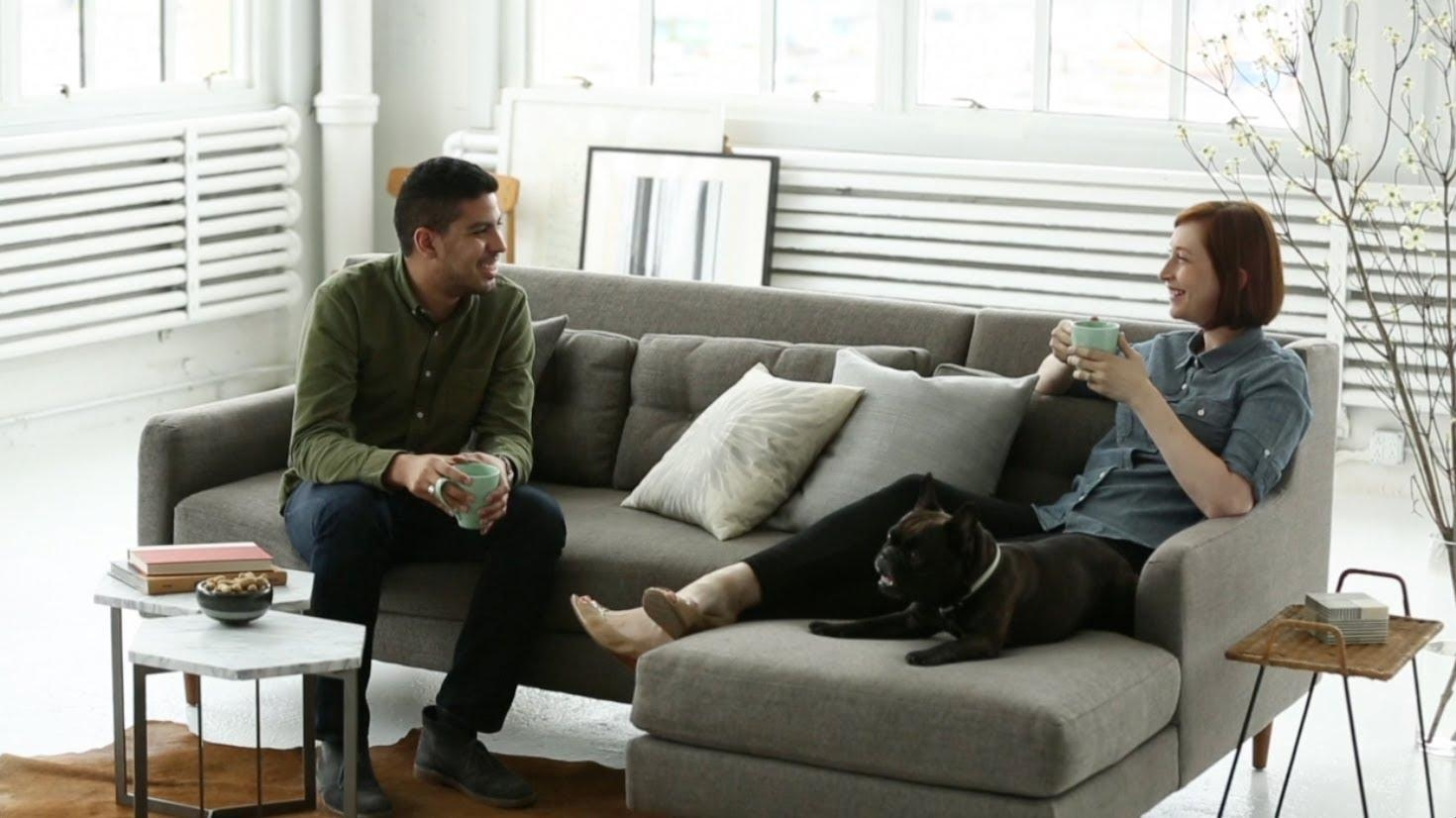 Mid Century Sofa Design With Modern Comfort | West Elm – Youtube Intended For West Elm Sectionals (Image 15 of 20)