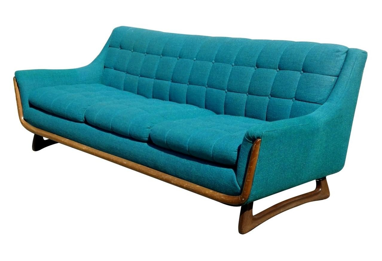 Mid Century Turquoise Sofa – Nueve  Grand Rapids Michigan's Best For Stratford Sofas (Image 7 of 20)