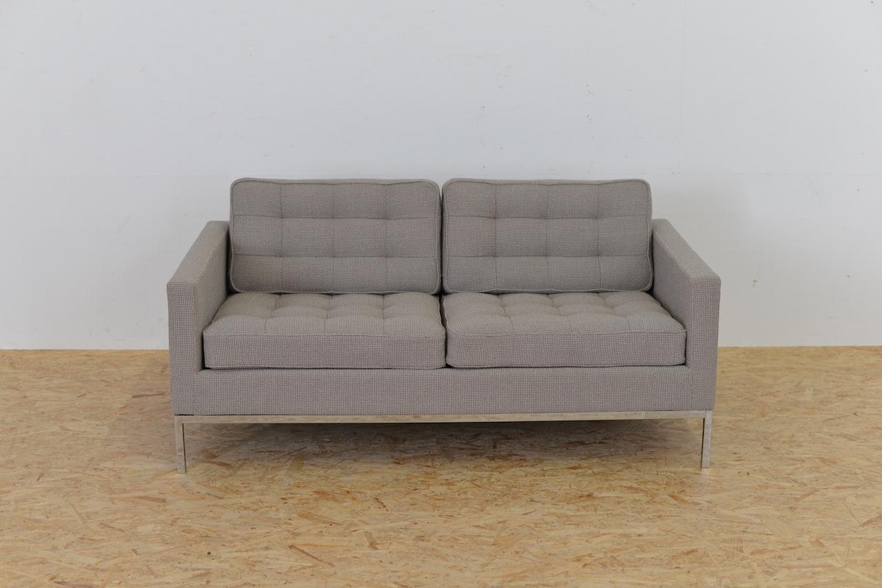Mid Century Two Seater Sofaflorence Knoll For Knoll For Sale For Florence Knoll Sofas (Image 19 of 20)