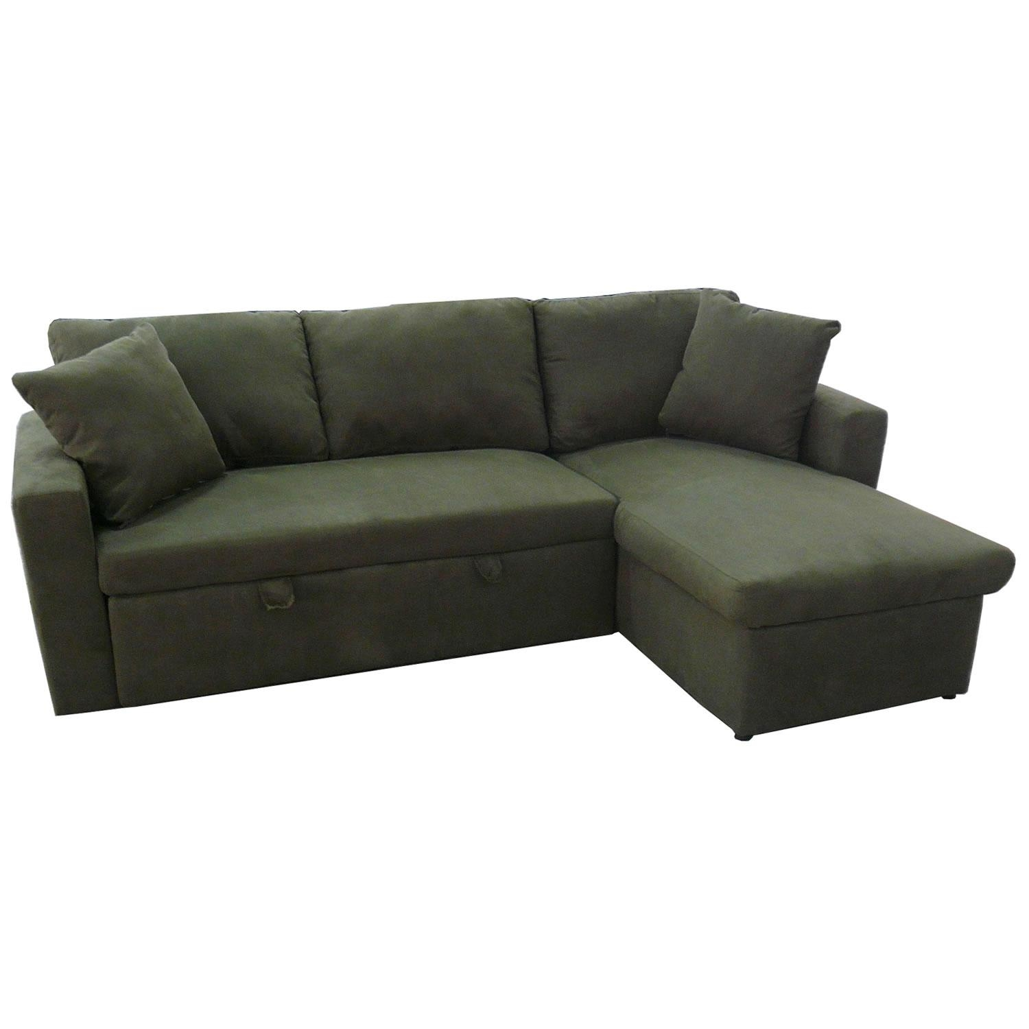 Milan Corner Sofa Bed With Storage Right Hand Grey – S3Net For Corner Sofa Bed Sale (Image 14 of 20)