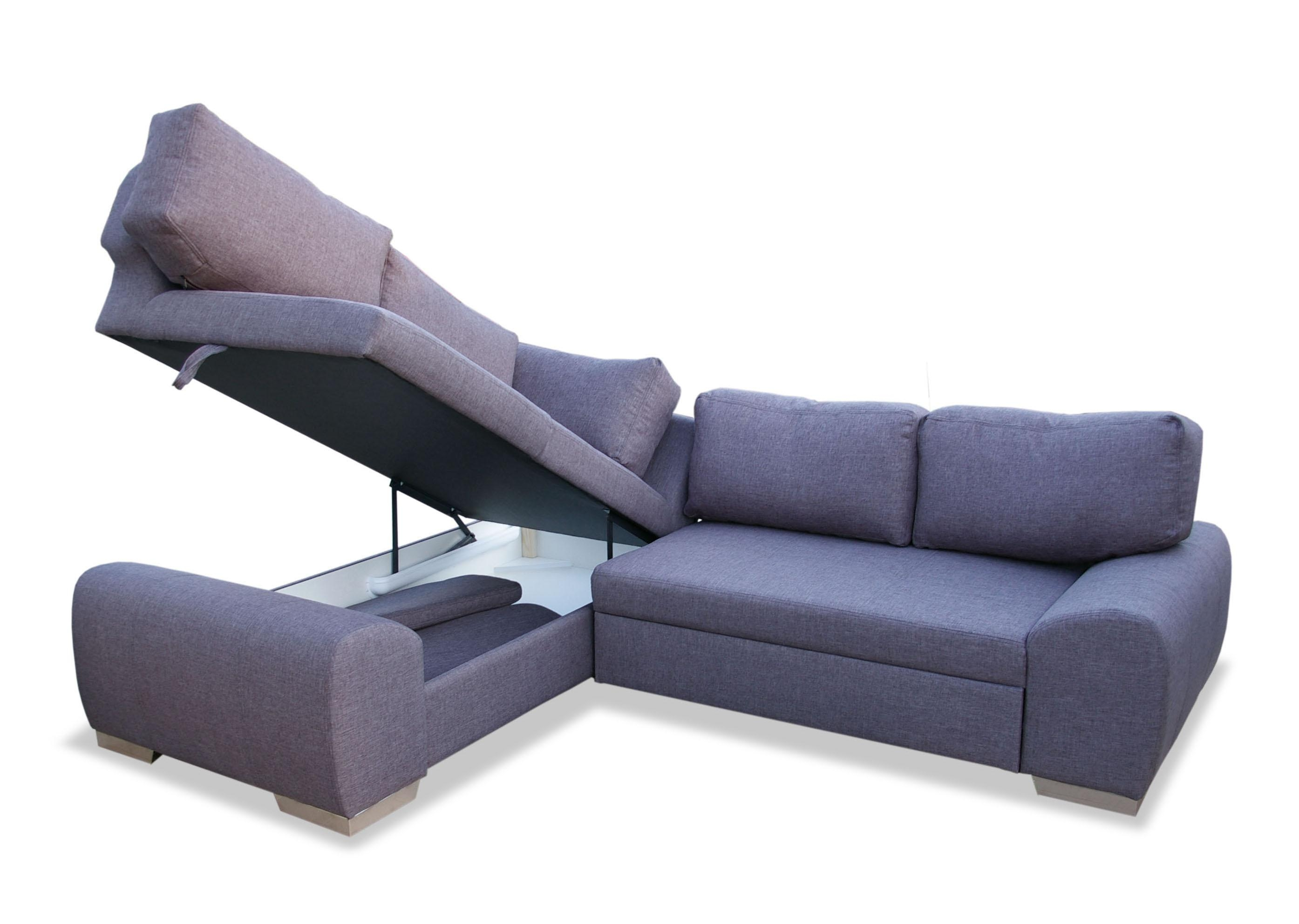 Milan Corner Sofa Bed With Storage Right Hand Grey – S3Net Within Sectional Sofa Bed With Storage (Image 11 of 20)