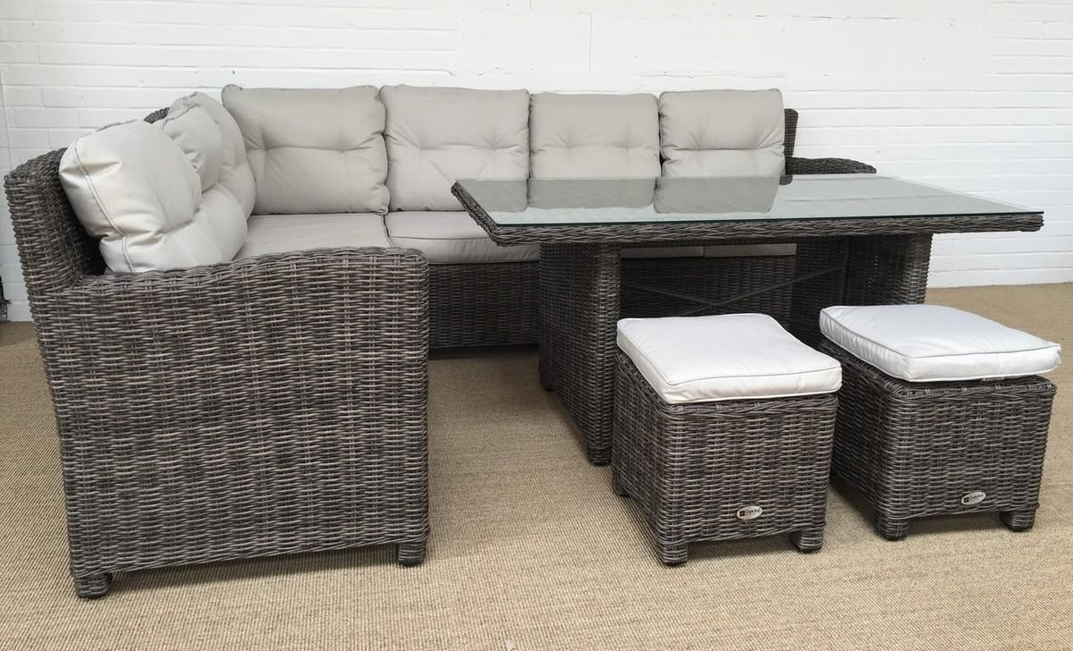 Milan Grey Corner Sofa Dining Table & Stool Set | Oakita Throughout Corner Sofa Chairs (View 19 of 20)