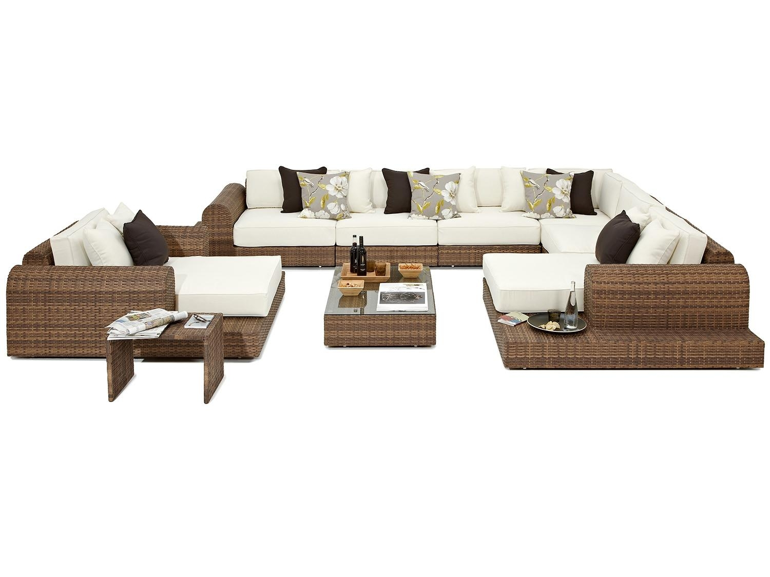 Milano Large Rattan Garden Corner Sofa And Chair throughout Corner Sofa Chairs