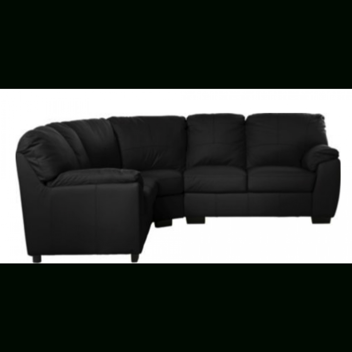 Milano Leather Dual Facing Corner Sofa Group – Black – Furnico Village In Black Corner Sofas (Image 13 of 20)