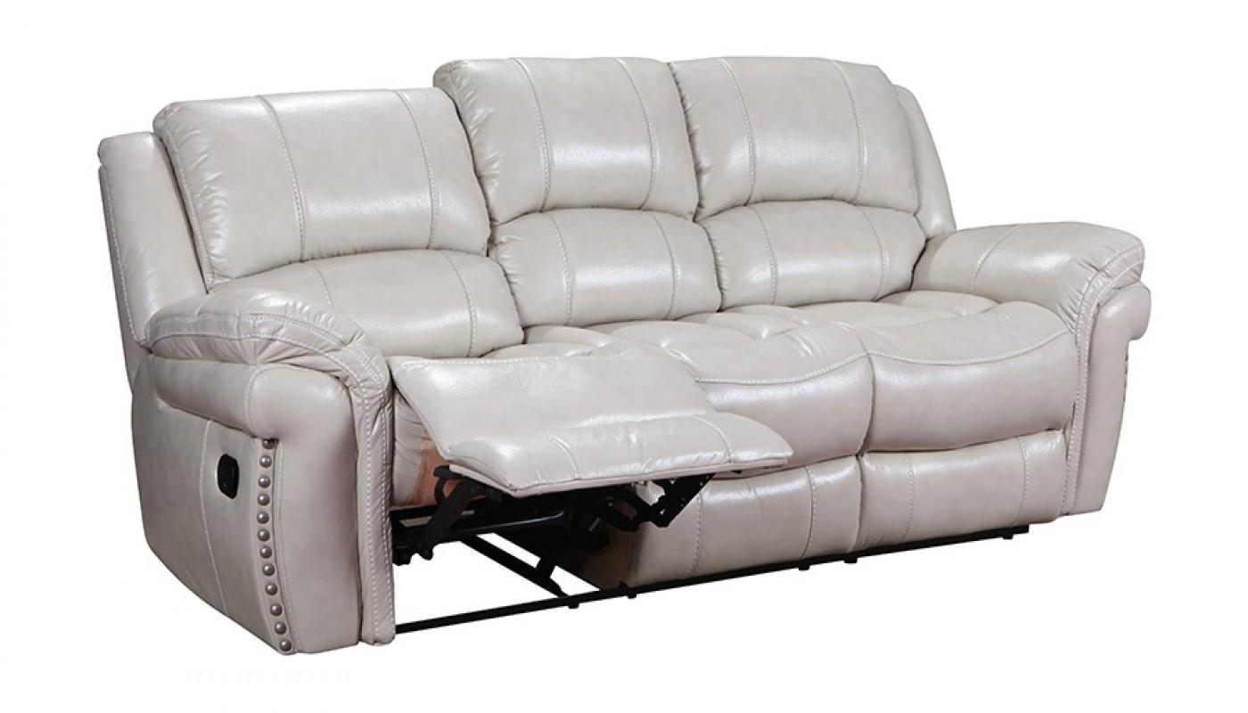 Milton Ivory Reclining Sofa – Home Zone Furniture | Living Room Regarding Recliner Sofa Chairs (Image 17 of 20)