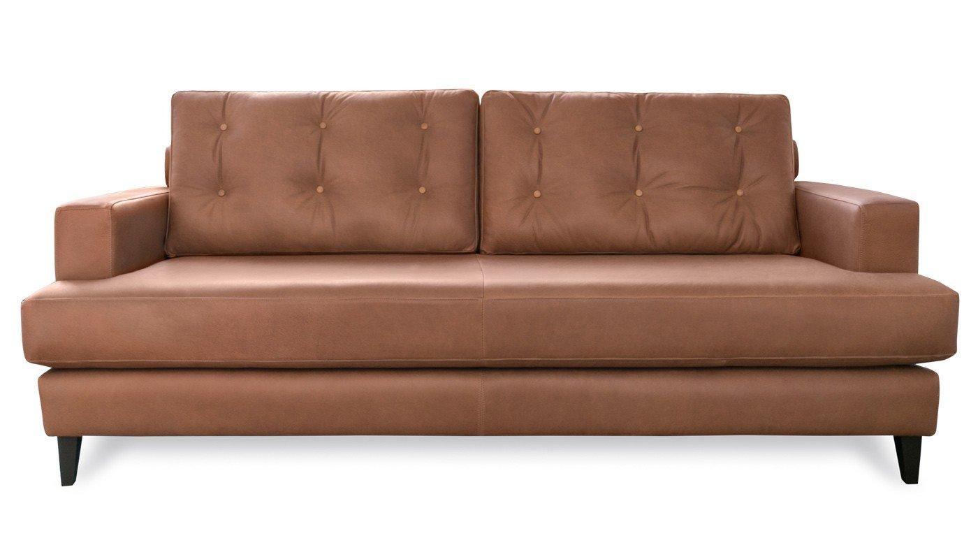 Mistral 4 Seater Sofa Leather Cognac Black Feet Inside 4 Seat Leather Sofas (View 16 of 20)
