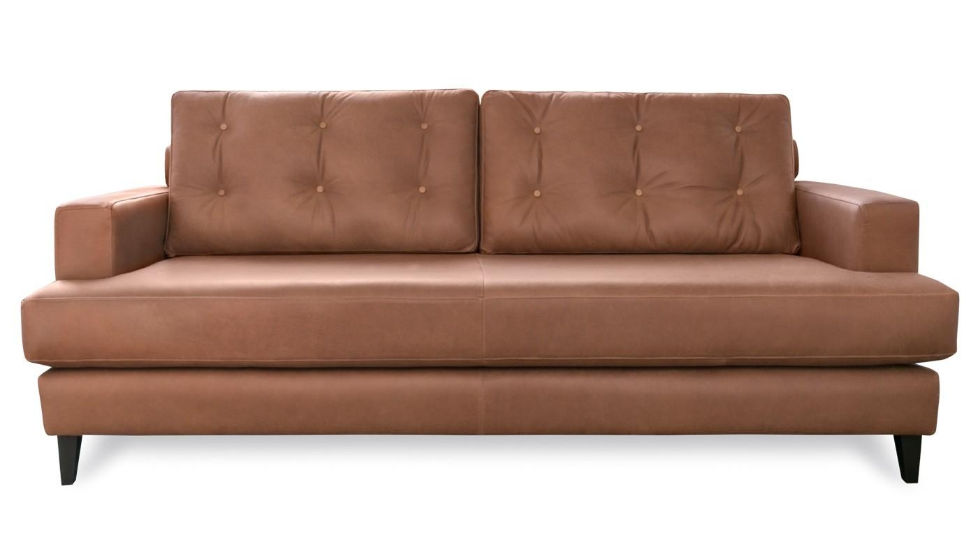 Mistral 4 Seater Sofa Leather Cognac Black Feet Throughout 4 Seater Sofas (Image 19 of 20)