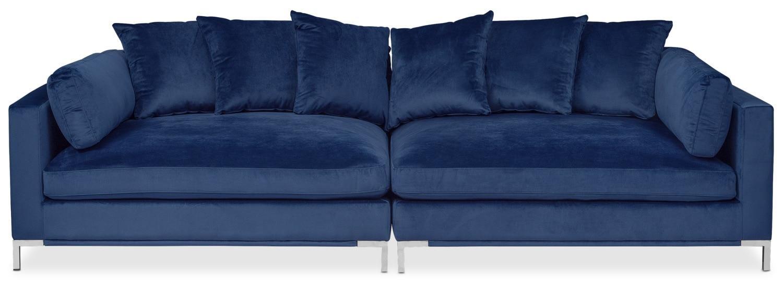 Moda 2 Piece Sofa – Blue | American Signature Furniture For 2 Piece Sofas (Image 12 of 20)