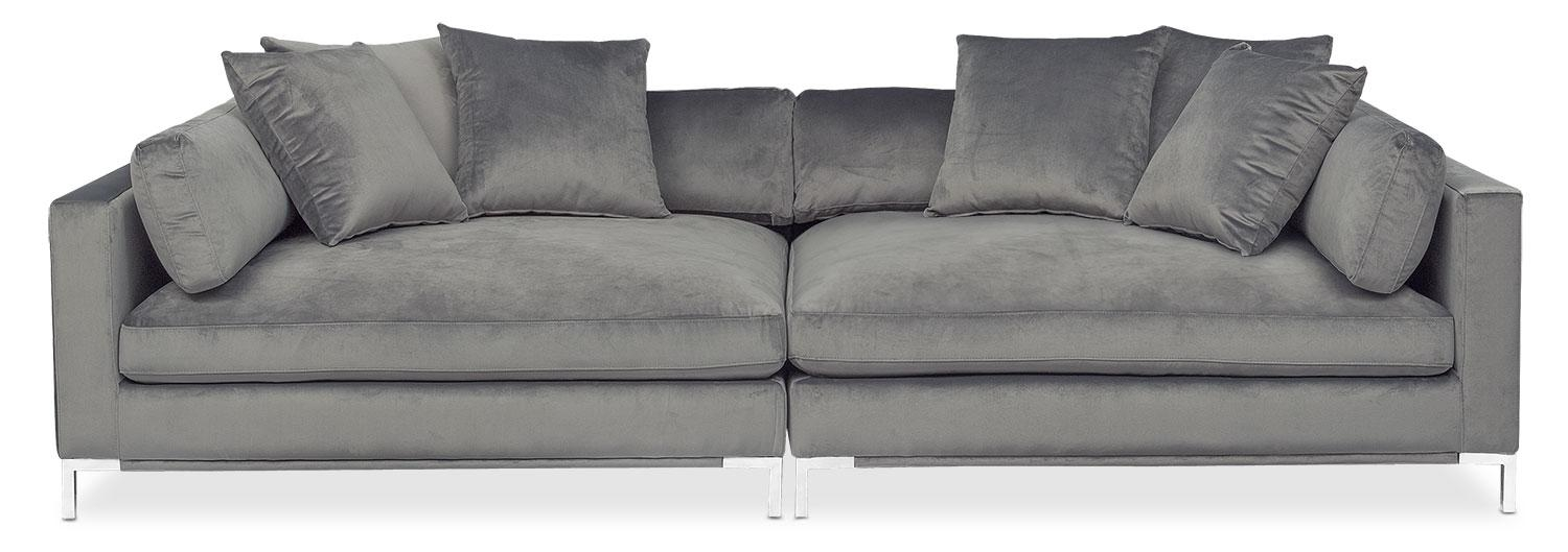 Moda 2 Piece Sofa – Gray | Value City Furniture In 2 Piece Sofas (Image 13 of 20)