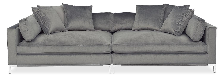 Moda 2 Piece Sofa – Gray | Value City Furniture In 2 Piece Sofas (View 13 of 20)