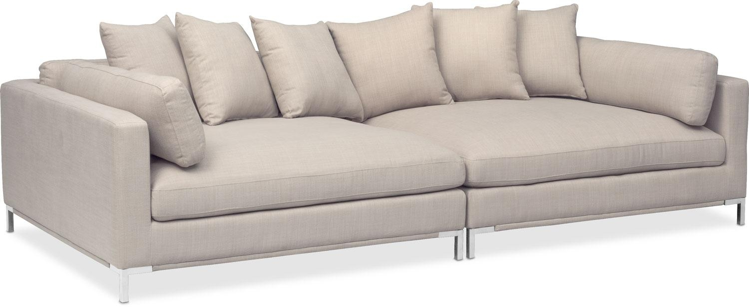 Moda 2 Piece Sofa – Ivory | Value City Furniture In 2 Piece Sofas (Image 14 of 20)