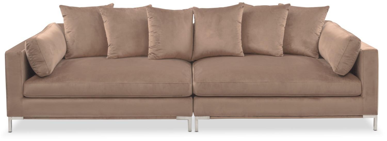 Moda 2 Piece Sofa – Mushroom | American Signature Furniture Pertaining To 2 Piece Sofas (Image 15 of 20)