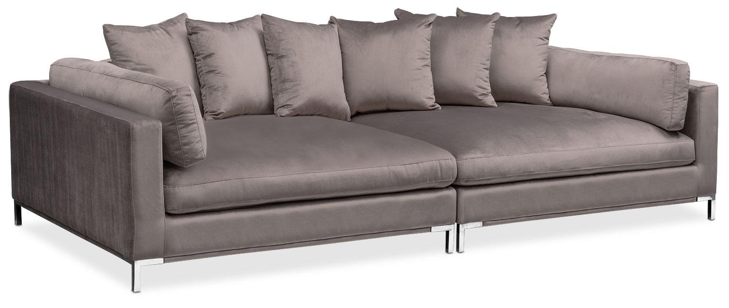 Moda 2 Piece Sofa – Oyster | Value City Furniture For 2 Piece Sofas (Image 16 of 20)