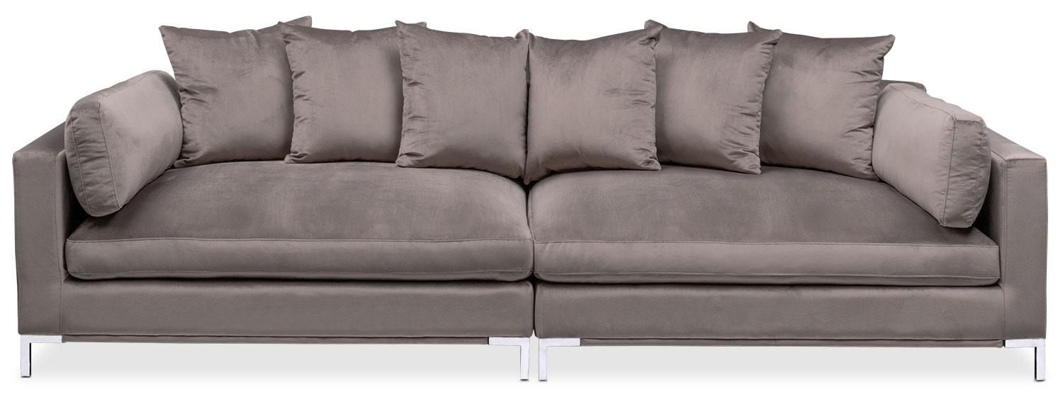 Moda 2 Piece Sofa – Oyster | Value City Furniture With Regard To 2 Piece Sofas (View 3 of 20)