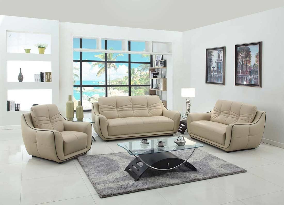 Modern Beige Leather Sofa Gu 88 | Leather Sofas Intended For Beige Leather Couches (Image 15 of 20)