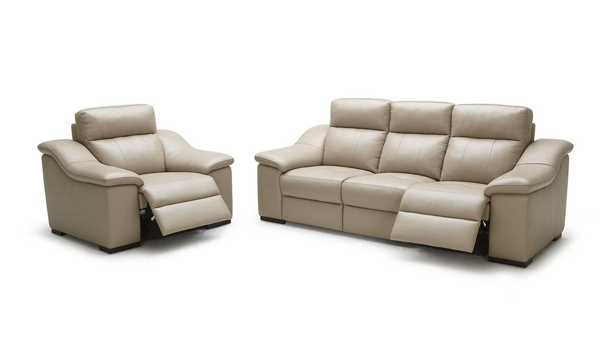 Modern Beige Leather Sofa Set With Beige Leather Couches (View 4 of 20)