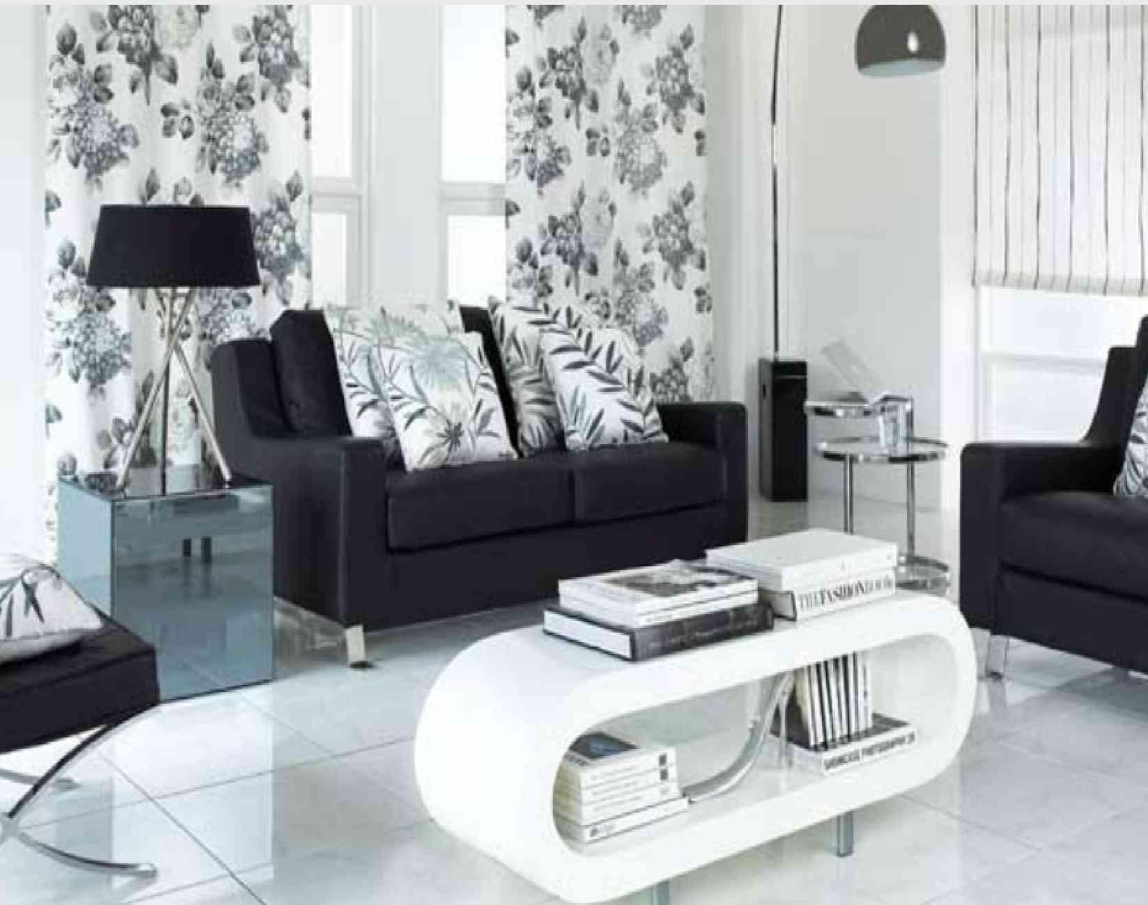 Modern Black And White Living Room Black White Sectional Sofa Set With Regard To Sofas Black And White Colors (Image 18 of 20)