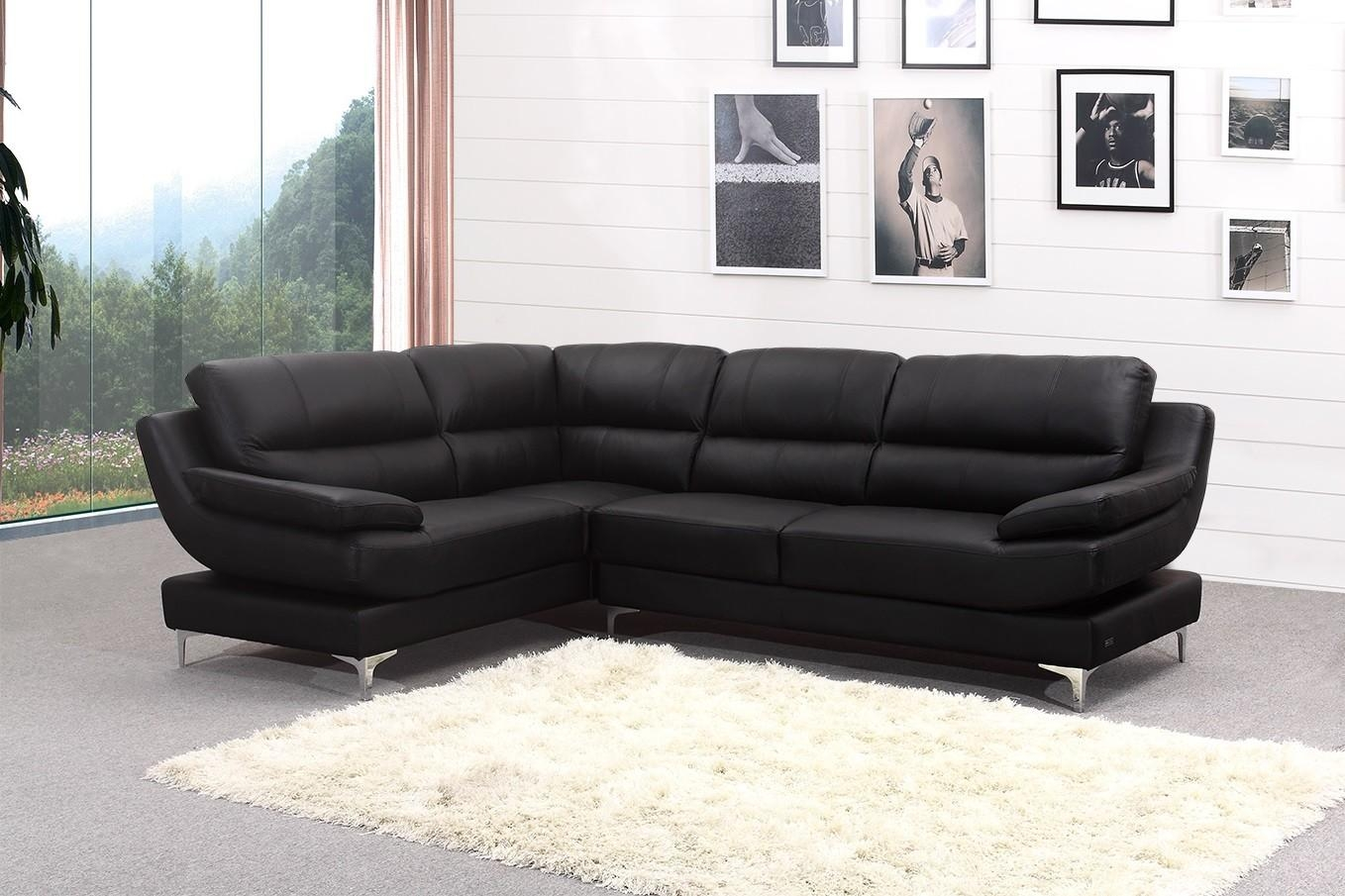 Modern Black Corner Sofa And Leather Corner Sofa Black Cosmo Sofas For Black Corner Sofas (Image 15 of 20)