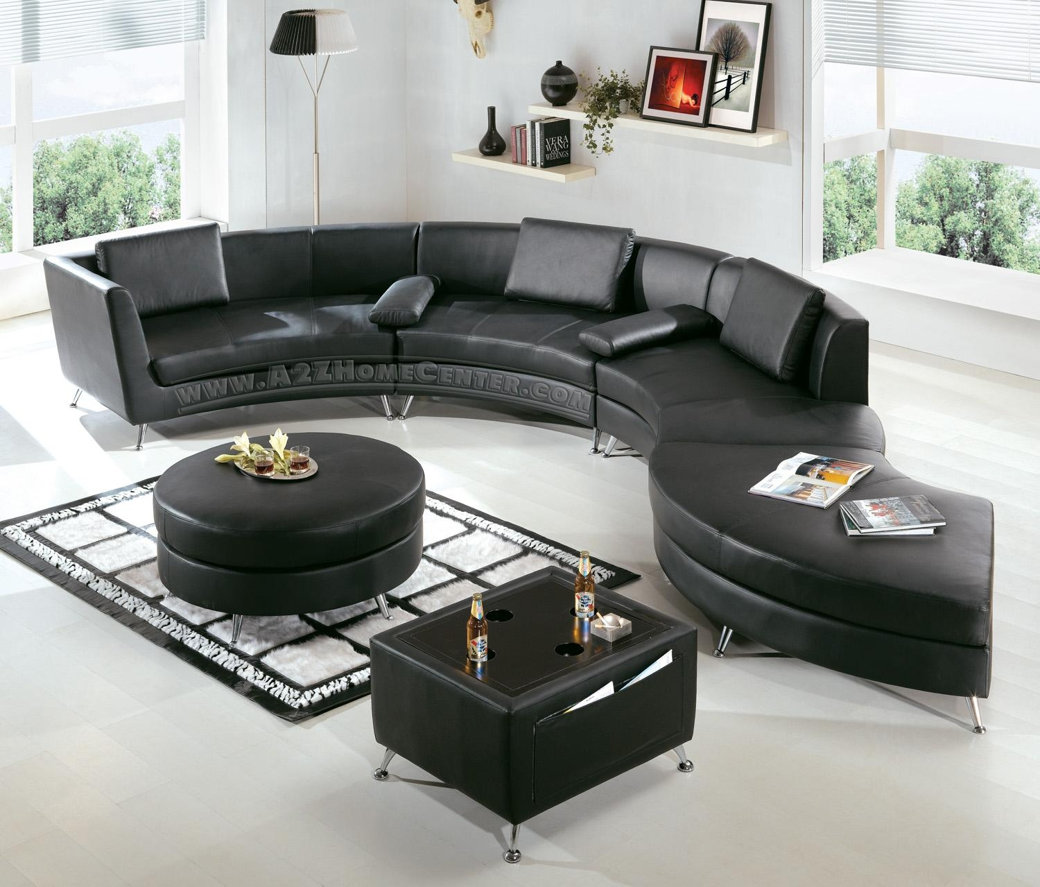 Modern Black Leather Sectional Sofa: Beautiful Pictures, Photos Of Pertaining To Black Modern Couches (Image 13 of 20)