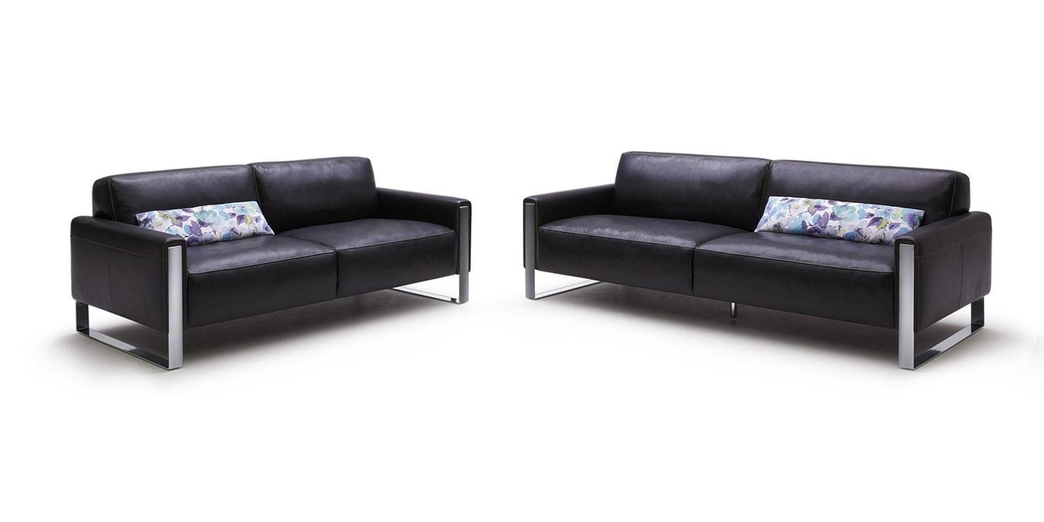 Modern Black Modern Leather Sofa And Modern Sofas In Living Room Within Black Modern Couches (Image 15 of 20)