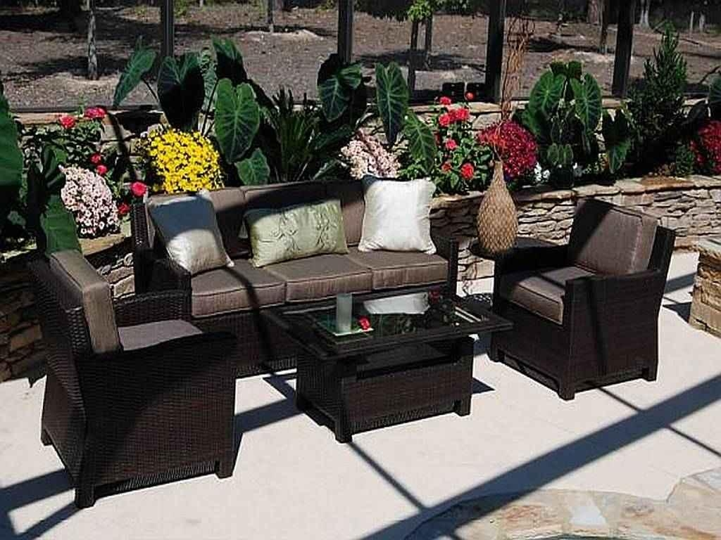 Modern Black Wicker Outdoor Furniture Design | All Home Decorations For Black Wicker Sofas (View 11 of 20)