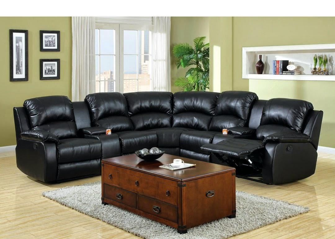 Modern Cheap Reclining Sofa Reviews: Reclining Sofa With Center Inside Sofas With Console (Image 7 of 20)