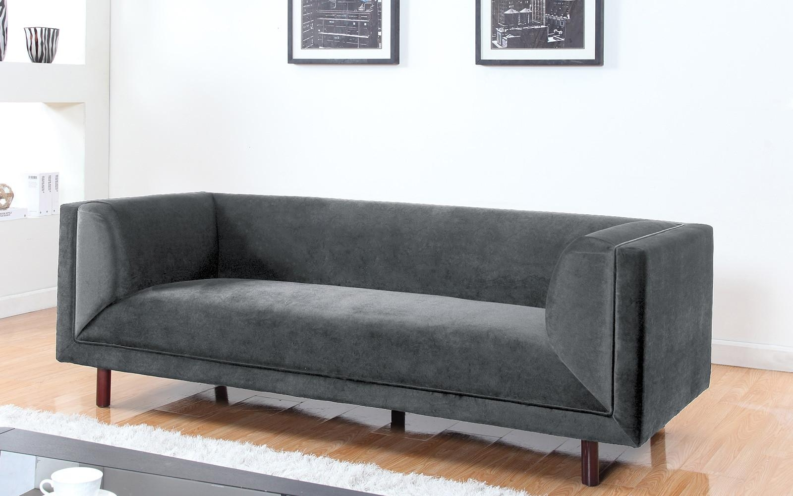 Modern Contemporary Large 3 Seater Velvet Sofa – Walmart Throughout Modern 3 Seater Sofas (Image 16 of 20)