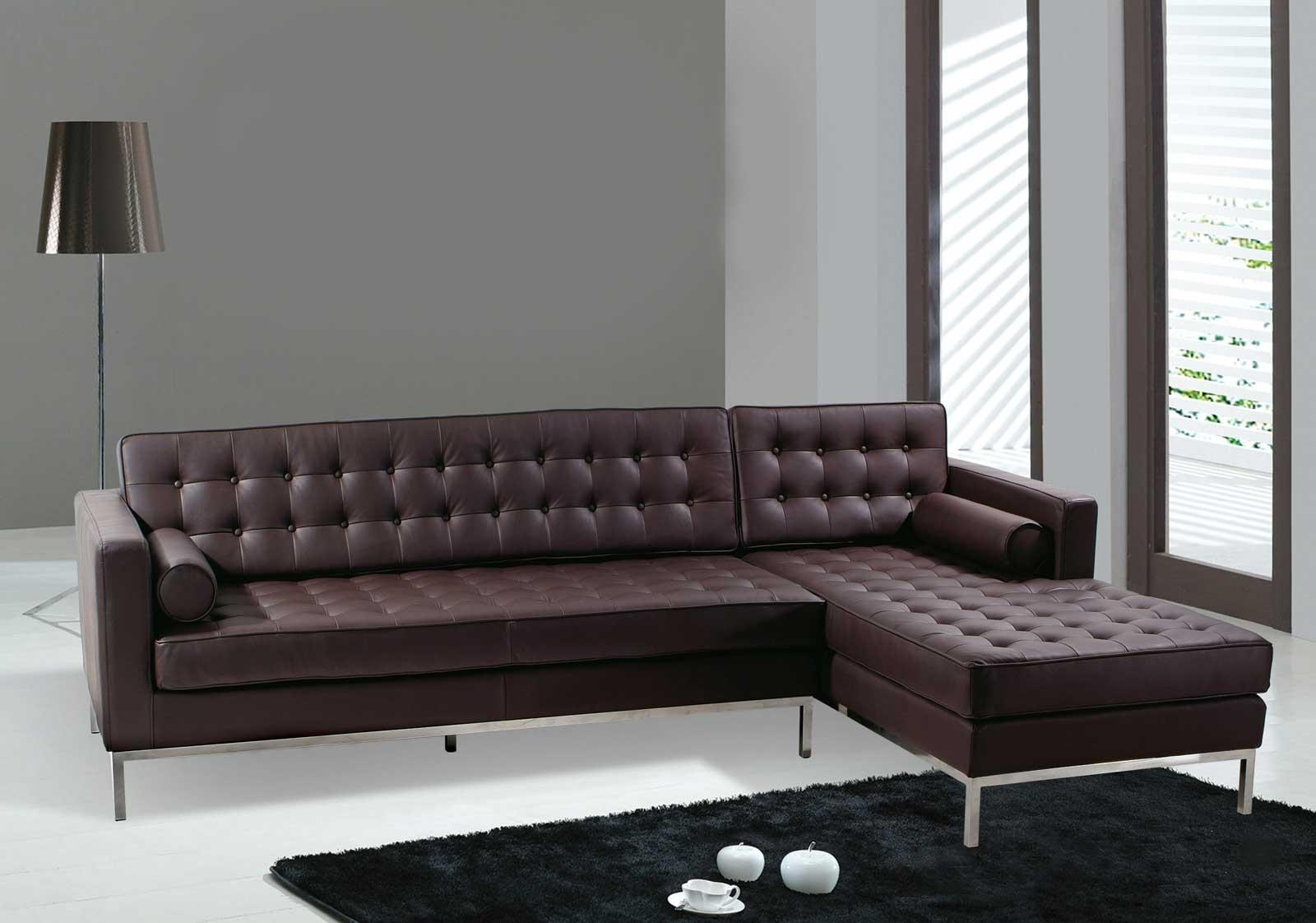 Modern Contemporary Leather Sofa Living Room | All Contemporary Design Pertaining To Contemporary Brown Leather Sofas (View 2 of 20)