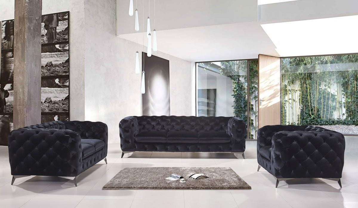Modern Contemporary Sofa Sets, Sectional Sofas & Leather Couches Inside Black Modern Couches (Image 16 of 20)