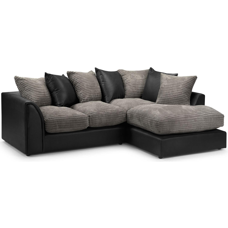 Modern Corner Sofa Ideas Nice Home Design With Regard To Black Corner Sofas (Image 16 of 20)