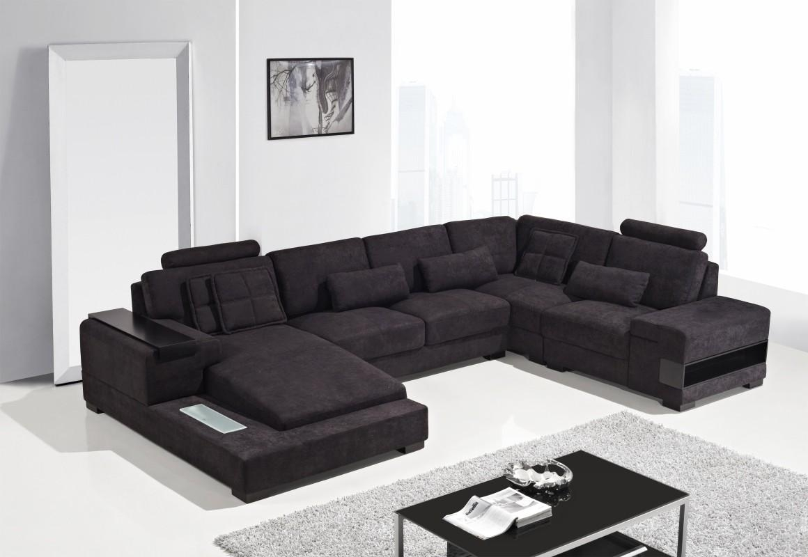 Featured Image of Black Fabric Sectional