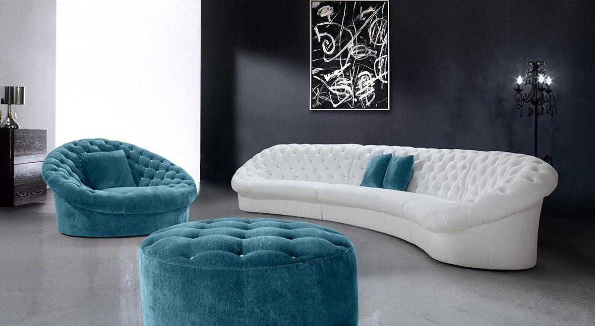 Modern Fabric Sectional Sofas – Creditrestore Throughout Blue And White Sofas (Image 18 of 20)