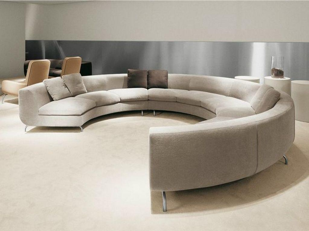 Modern Full Round Sofa Furniture – Choosing The Right A Round Sofa With Circular Sofa Chairs (View 16 of 20)