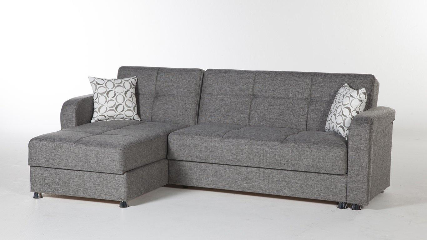 Modern Grey Sectional Sofa – Creditrestore Pertaining To Modern Small Sectional Sofas (Image 8 of 20)