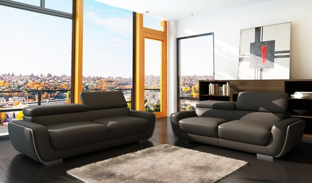 Modern Italian Leather Sofa Set Regarding Italian Leather Sofas (Image 11 of 20)