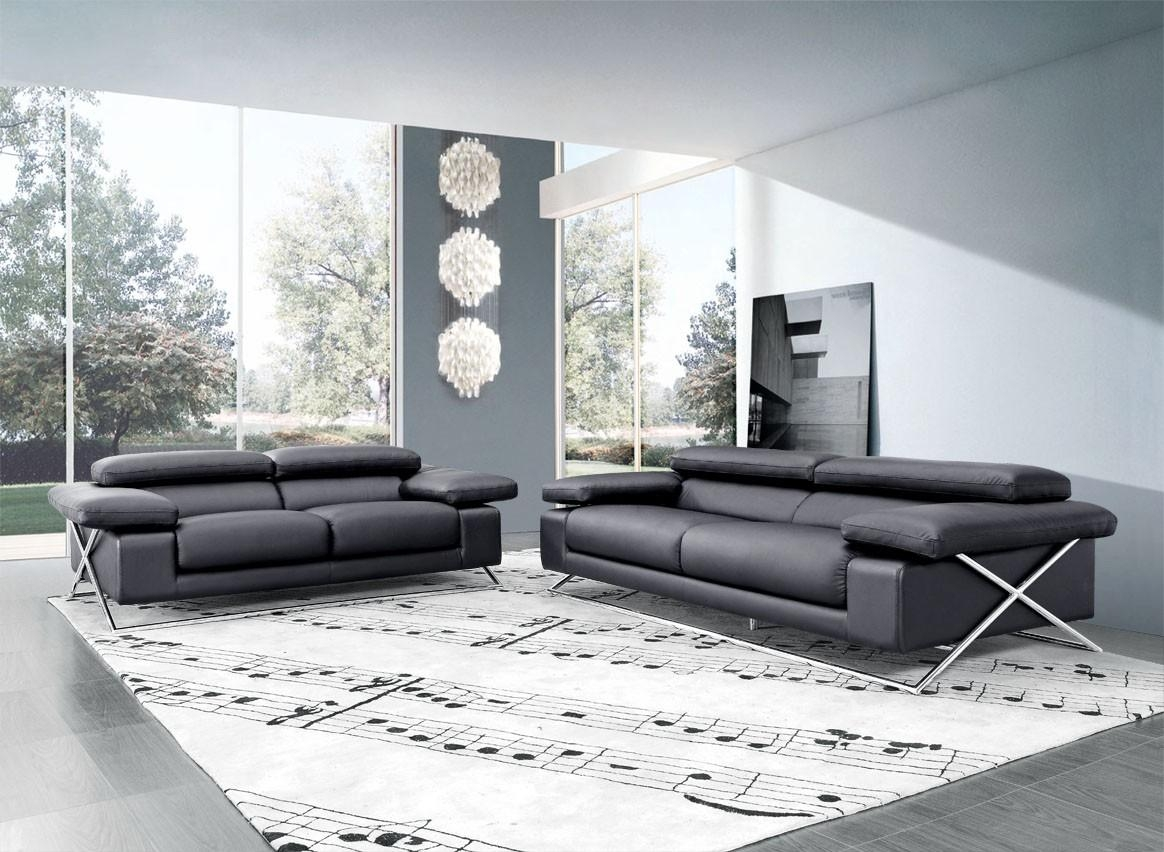 Modern Italian Leather Sofa Set Regarding Italian Leather Sofas (Image 10 of 20)
