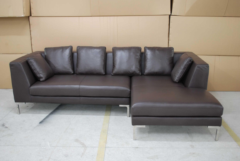 Modern Leather Corner Sofas With Modular Leather Corner Sofa In Black Leather Corner Sofas (Image 18 of 20)