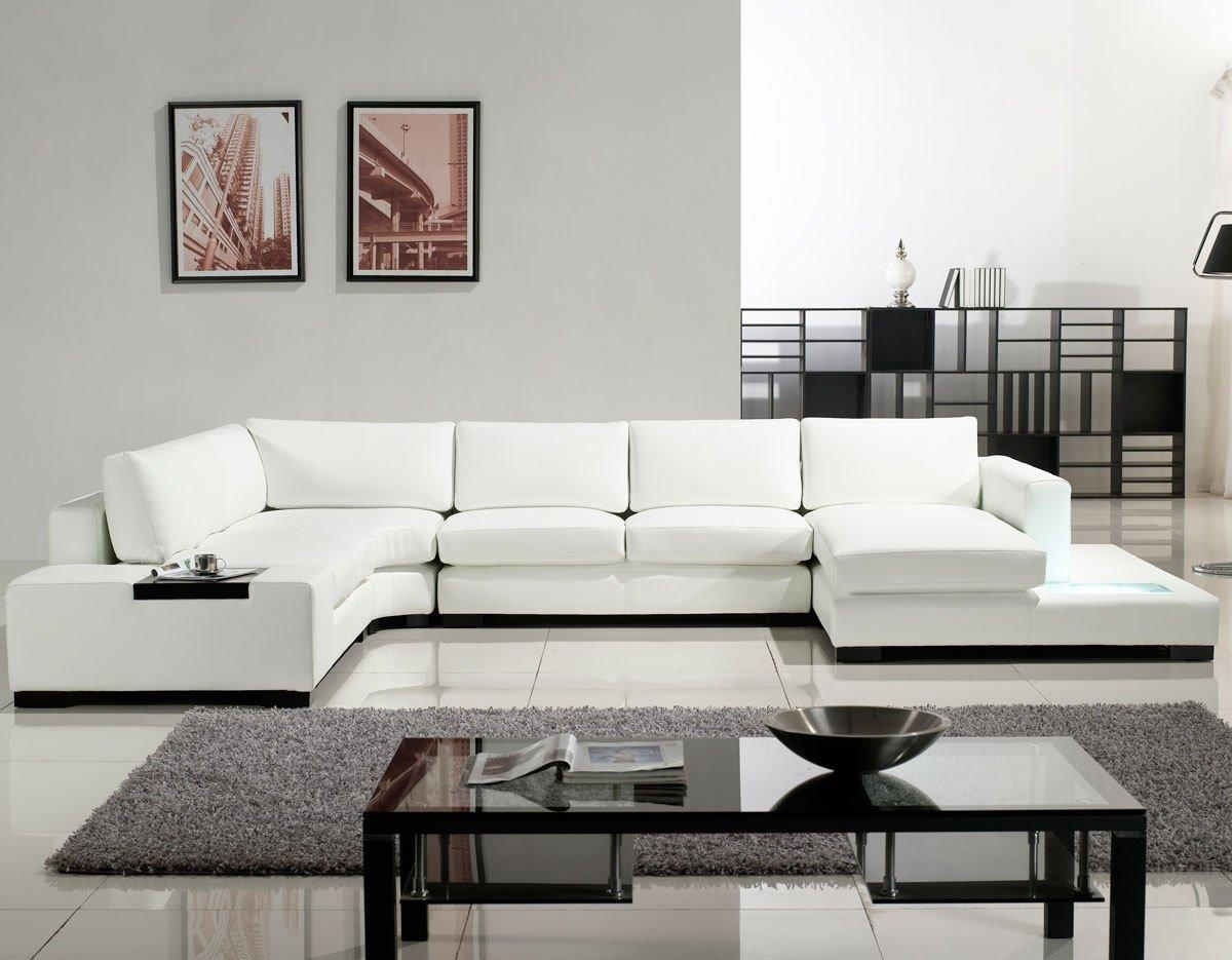 Modern Leather Sectional Sofa With Drawers – S3Net – Sectional Inside Leather Sectional Sofas Toronto (Photo 16 of 20)