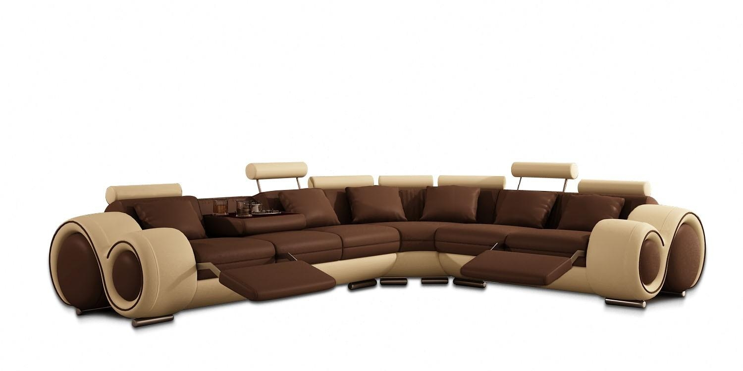 Modern Leather Sectional Sofa With Recliners In Modern Reclining Sectional (View 10 of 20)