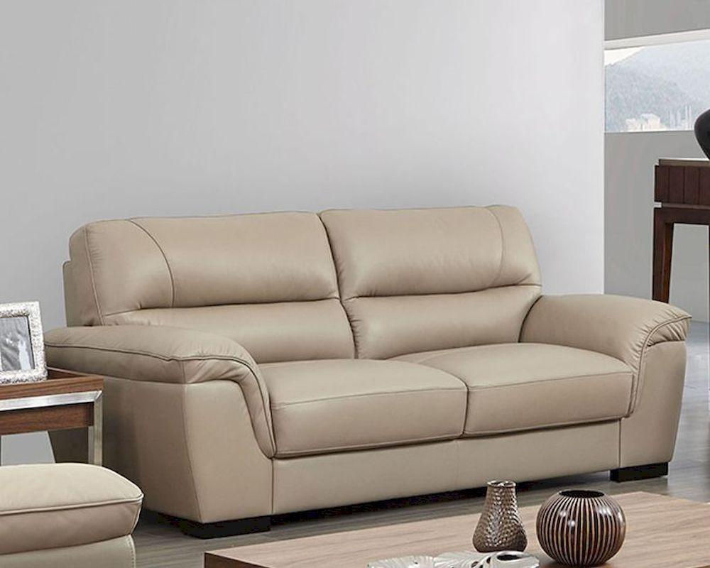 Modern Leather Sofa Set In Beige Color Esf8052Set With Beige Leather Couches (View 6 of 20)