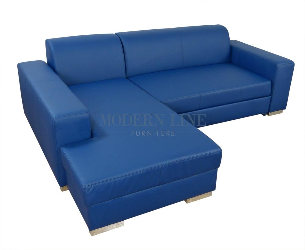 20 collection of blue leather sectional sofas sofa ideas for Modern line furniture