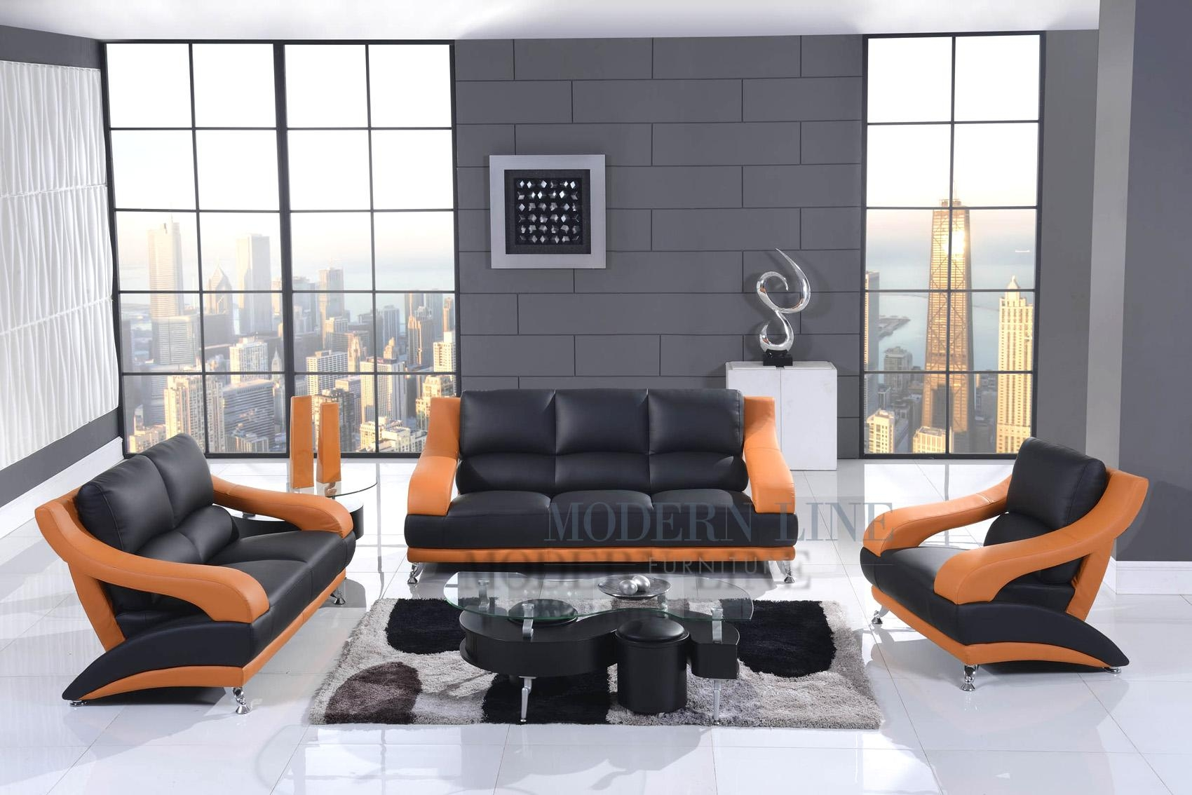 20 best orange sofa chairs sofa ideas for Modern line furniture