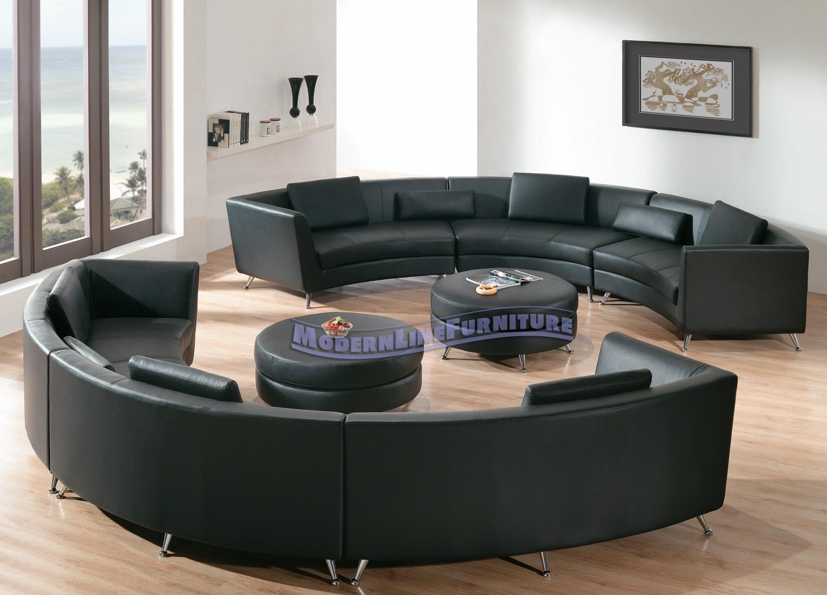 Modern Line Furniture – Commercial Furniture – Custom Made With Round Sectional Sofa Bed (Image 12 of 20)