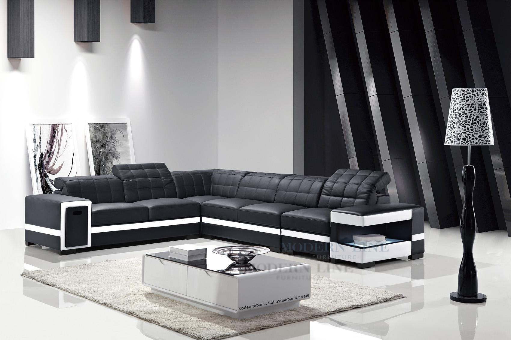 15 choices of black and white sectional sofa ideas for Modern line furniture