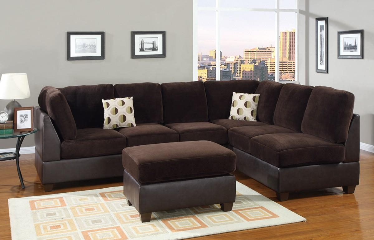 Modern Living Room Decor With Bemerkenswert Suede Sectional Sofas Regarding Suede Sectionals (Image 16 of 20)