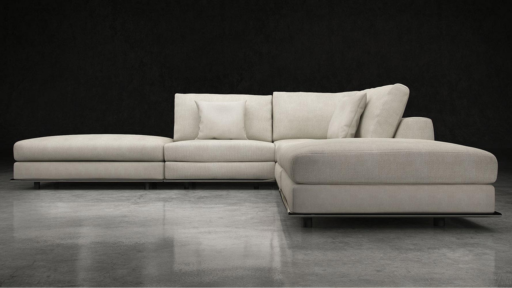 Modern Persis Armless Corner Sectional Sofa – Moonbeam | Zuri Regarding Armless Sectional Sofa (View 3 of 15)