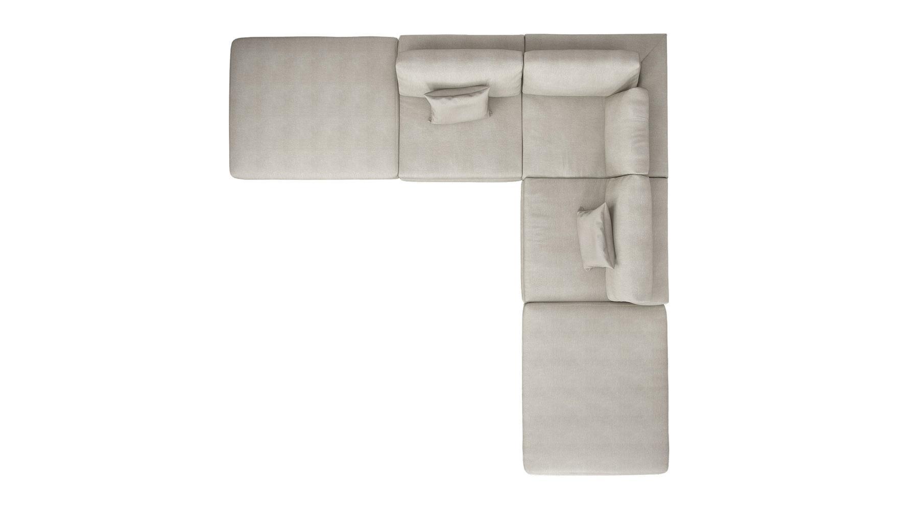 Modern Persis Armless Corner Sectional Sofa – Moonbeam | Zuri Regarding Armless Sectional Sofas (Image 8 of 15)