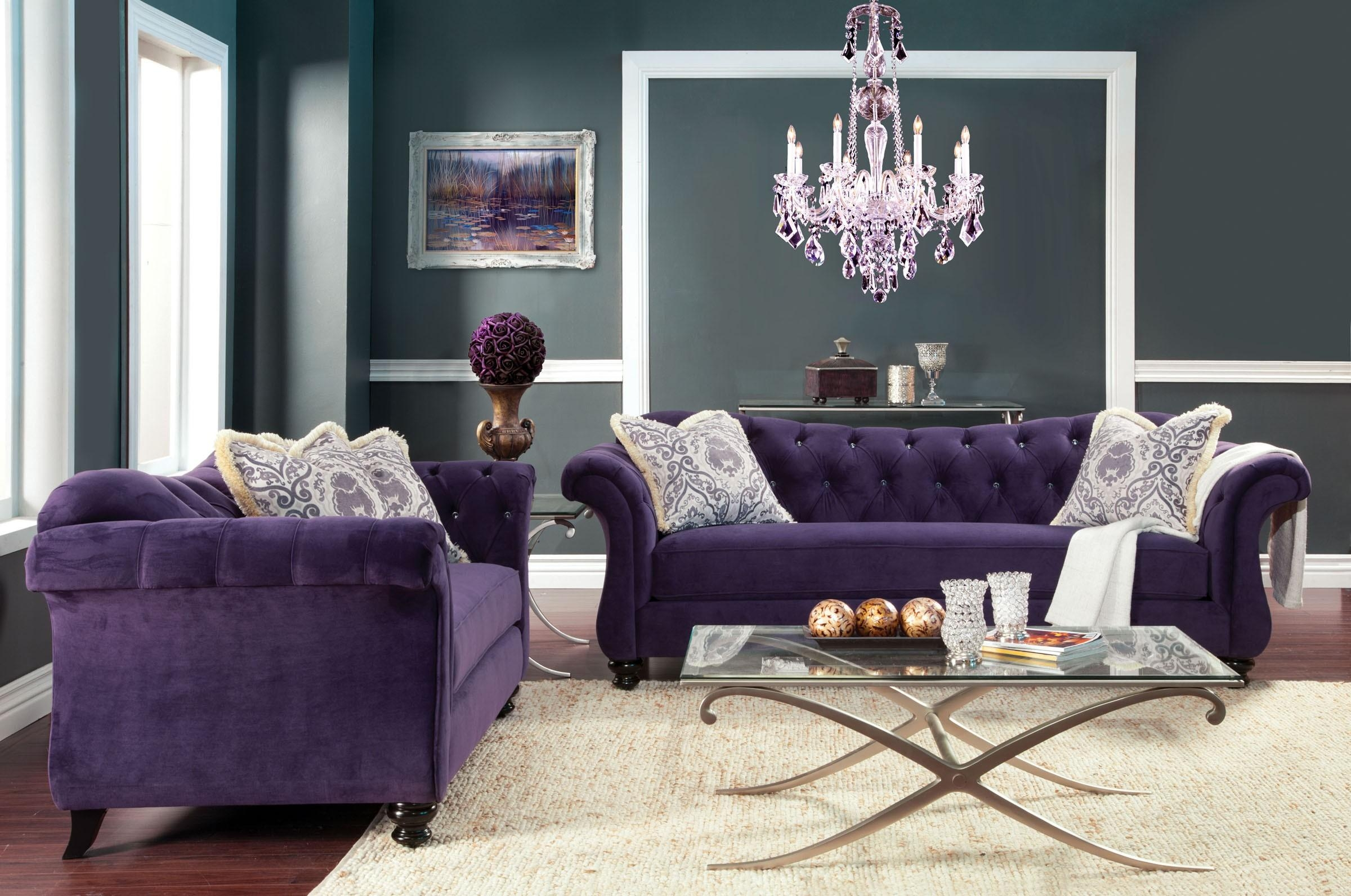Modern Purple Velvet Sofa Images About Sofas On (View 16 of 20)