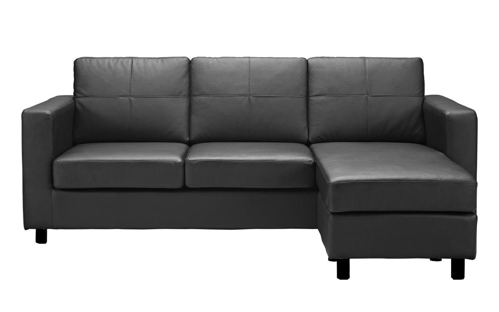 Modern Reversible Small Space Configurable Bonded Leather With Regard To Modern Sectional Sofas For Small Spaces (View 8 of 20)